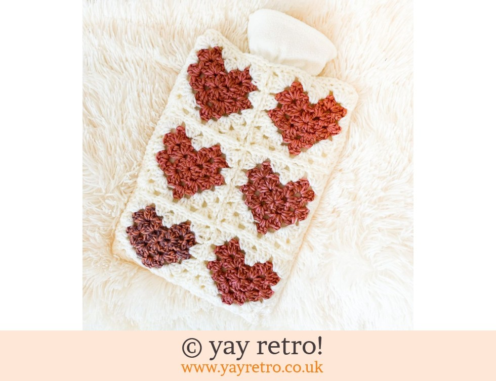Love Me Do Crochet Hot Water Bottle Set (£22.00)